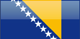Country flag of Bosnia and Herzegovina
