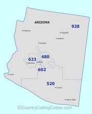 Arizona area code map