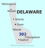 Delaware United States Area Code And Delaware United States - Area code 302 map