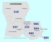 Louisiana United States Area Code And Louisiana United States - Area code 985