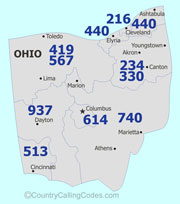 Ohio United States Area Code And Ohio United States Country Code - Area code 937