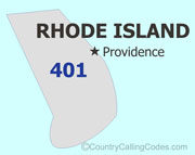Rhode-Island area code map