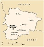 Country map of Andorra