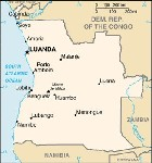 Country map of Angola