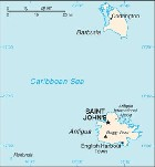 Country map of Antigua And Barbuda