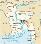 Country map of Bangladesh