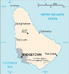Country map of Barbados