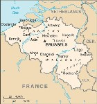 Country map of Belgium