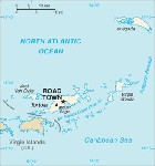 Country map of British Virgin Islands
