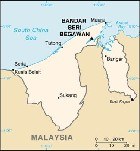 Country map of Brunei