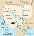 Country map of Cambodia