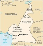 Country map of Cameroon