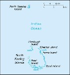 Country map of Cocos Islands