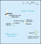 Country map of Comoros