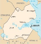 Country map of Djibouti