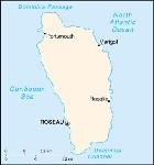 Country map of Dominica