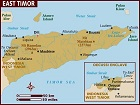 Country map of East Timor