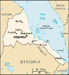 Country map of Eritrea