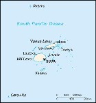 Country map of Fiji Islands