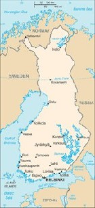 Country map of Finland