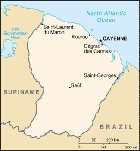 Country map of French Guiana