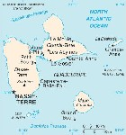 Country map of Guadeloupe