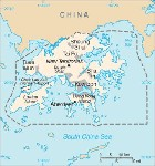 Country map of Hong Kong
