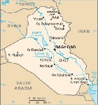 Country map of Iraq