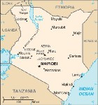 Country map of Kenya