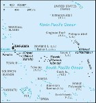 Country map of Kiribati