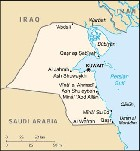 Country map of Kuwait