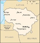 Country map of Lithuania