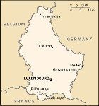 Country map of Luxembourg