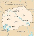 Country map of Macedonia