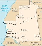Country map of Mauritania
