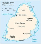 Country map of Mauritius