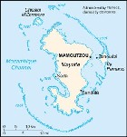 Country map of Mayotte Island