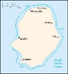 Country map of Niue