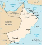 Country map of Oman