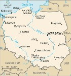 Country map of Poland