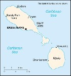Country map of Nevis