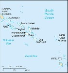 Country map of Solomon Islands