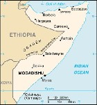Country map of Somalia Republic