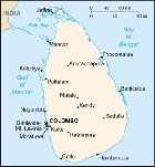 Country map of Sri Lanka