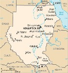 Country map of Sudan