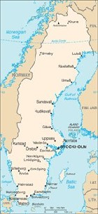Sweden Area Code And Sweden Country Code - Sweden map of country