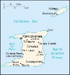 Country map of Trinidad And Tobago