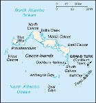 Country map of Turks And Caicos Islands