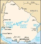Country map of Uruguay