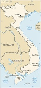 Country map of Vietnam